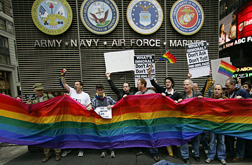 the issue of homosexuals in military In a february 3 wall street journal op-ed, i argued that the current law banning military service by homosexuals ought to remain in placei based my contention on the importance of non-sexual bonding as the glue of unit cohesion, which is an important contributor to military effectiveness.